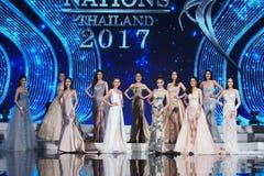 Госпожа Вс Нация Таиланд 2017, окончательный круг стоковые фотографии rf
