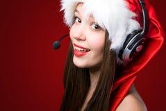 Госпожа Санта вызывая вас! стоковые изображения