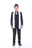 Господин Торжество Состязание в костюме шарика вечера с кроной диаманта, Стоковое Изображение RF