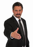 Гостеприимсво бизнесмена здравствуйте! Стоковое фото RF