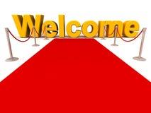 гостеприимсво красного цвета ковра Стоковое Фото