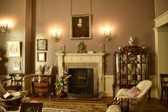 Гостиная в красивом загородном доме около Лидса Западного Йоркшира который нет национальной управляемой по доверенности собственн Стоковая Фотография
