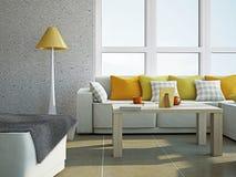 Гостиная с мебелью Стоковое Изображение RF