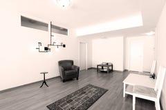 Гостиная с новой мебелью Стоковая Фотография RF