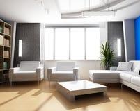 гостиная 3d Стоковые Изображения