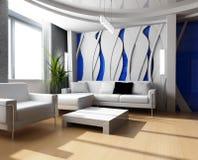 гостиная 3d Стоковая Фотография RF