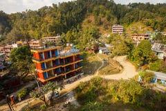 Гостиница, берег озера, Pokhara, Непал Стоковые Изображения RF