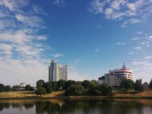 Гостиница Беларусь minsk 2015 стоковая фотография rf