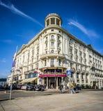 Гостиница Бристоль в Krakowskie Przedmiescie, Варшаве Стоковые Изображения