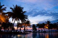 гостиница вечера тропическая Стоковая Фотография