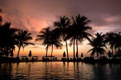 гостиница вечера тропическая Стоковые Фотографии RF