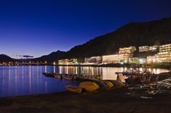 Гостиница в озере Kawaguchiko Стоковые Фото