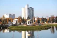 Гостиница в парке ben большой Большие часы на здании стоковая фотография rf