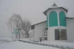 Гостиница в снежке Стоковое Изображение RF