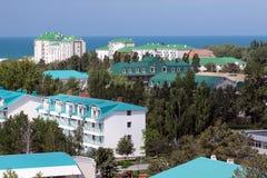 гостиница города anapa черная смотря море parus к Стоковая Фотография RF