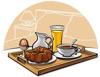 гостиница завтрака иллюстрация штока