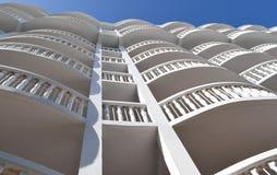 Гостиница и балконы Флориды Стоковая Фотография RF