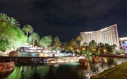 Гостиница и казино острова сокровища в Лас-Вегас Неваде стоковые изображения