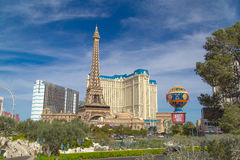 Гостиница и казино Парижа в Лас-Вегас, Неваде Стоковое Изображение RF