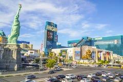 Гостиница и Эм-Джи-Эм Гранд NY NY в Лас-Вегас - ЛАС-ВЕГАС - НЕВАДЕ - 23-ье апреля 2017 Стоковые Изображения