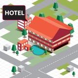 Гостиница карты равновеликая Стоковое Изображение RF