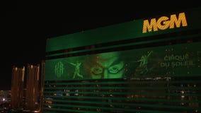 Гостиница Лас-Вегас MGM к ноча - США 2017 видеоматериал