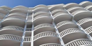 Гостиница на пляже Флориды Стоковая Фотография