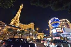 Гостиница Парижа и казино, ориентир ориентир, метрополия, район метрополитена, ноча стоковое фото rf