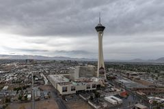 Гостиница стратосферы и казино Лас-Вегас, Невада стоковое изображение
