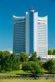 Гостиница строя Беларусь в районе Nemiga в Минске Стоковая Фотография