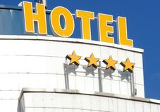 гостиница фасада стоковое изображение