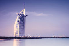 Гостиница Al Burj арабская на пляже Jumeirah в Дубае Стоковые Изображения RF