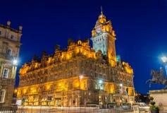 Гостиница Balmoral, историческое здание в Эдинбурге Стоковая Фотография RF