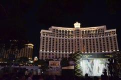 Гостиница Bellagio и казино, ноча, ориентир ориентир, метрополия, город стоковые изображения rf