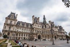 Гостиница de Ville, городская ратуша Парижа, Франции Это здание расквартировывает город администрации ` s Парижа стоковые изображения rf
