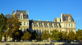 Гостиница de Ville, здание муниципалитет в Париже Стоковое фото RF