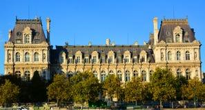 Гостиница de Ville, здание муниципалитет в Париже Стоковое Изображение