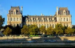 Гостиница de Ville, здание муниципалитет в Париже Стоковое Фото