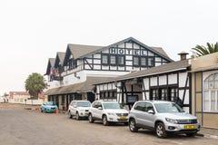 Гостиница Europahof и ресторан, в Swakopmund Стоковые Фото