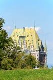 Гостиница Frontenac замка в Квебеке (город), Канаде Стоковые Фотографии RF