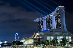 Гостиница MBS с светлой выставкой стоковое изображение