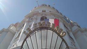 Гостиница Negresco сток-видео