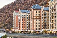 Гостиницы в Розе Khutor Стоковое Изображение