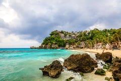 Гостиницы на пункте Diniwid, острове Boracay, Филиппинах Стоковое Фото