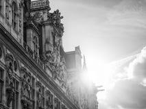 Гостиниц-de-Ville (здание муниципалитет) в Париже Стоковое Изображение