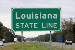 Государственная граница Луизианы стоковая фотография rf