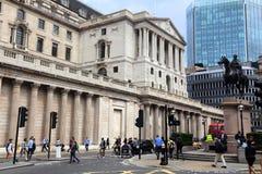 Государственный банк Англии Лондона Стоковое Фото