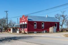 Государственный банк, красный цвет и белизна Walburg Стоковое фото RF
