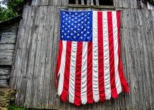 Государственный флаг США в Далласе Стоковая Фотография RF