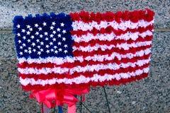 Государственный флаг США в флористическом Стоковое Изображение